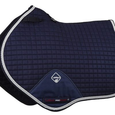 LeMieux Close Contact saddle pad  Suede with Binding Navy/Silver